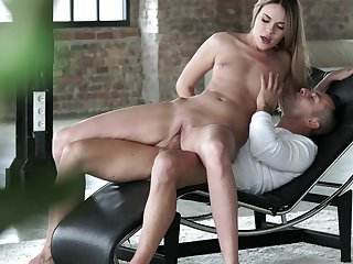 Blonde believes that fresh cum gives her sexual energy