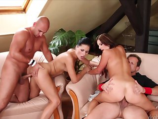 Brunette George Uhl is a sex pro and here's the proof in steamy anal action with Derrick Pierce after throat job