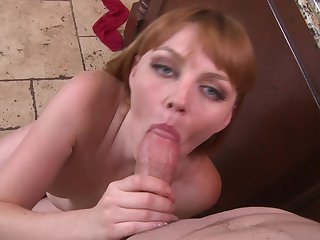 Redhead Marie McCray shows her slutty side in cumshot action