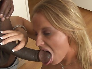 Blonde Aria Austin and horny man have wild sex on cam for you to watch and enjoy in interracial porn action