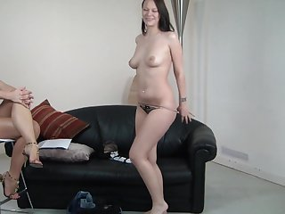 Brunette Silvia Saint does her best to get you hot in solo action
