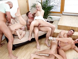 Blonde knows no limits when it comes to fucking with her hard dicked sex partner