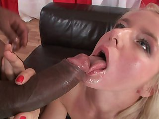 Redhead Jane F is curious about oral sex with horny guy