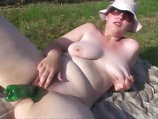 Teen has a nice time playing with cum loaded dick