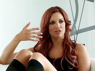 Redhead Allie H is in heaven doing it with hot lesbian Jayden Cole