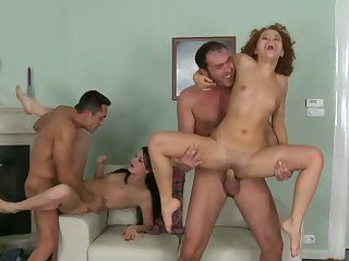 Redhead hooker does lewd things and then gets covered in cock cream