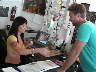 Levi Cash uses his erect love torpedo to bring blowjob addict Tattooed seductress Angienoir to the height of pleasure
