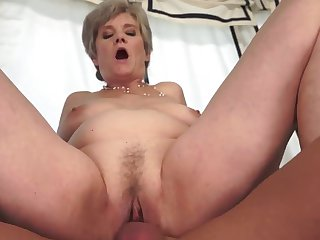 Mature with gigantic tits gets her twat trained by stiff love stick of hot dude