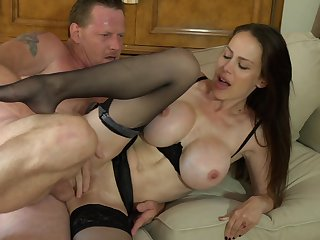 Brunette McKenzie Lee with big hooters and hot blooded guy have oral sex on cam for you to watch and enjoy