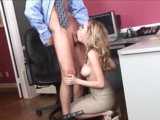 Blonde Nicole Ray just loves to suck and can't say No to horny guy