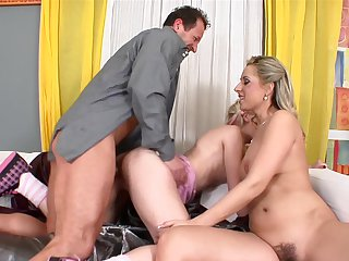 George Uhl gets his always hard tool sucked by Teen Daria Glower with huge jugs