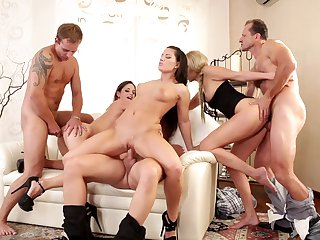 George Uhl can't resist unbelievably sexy Cathy Heaven's acttraction and fucks her asshole like there's no tomorrow after she gets her mouth fucked
