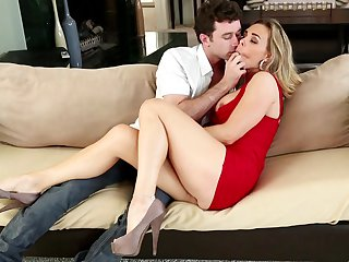 Blonde Tanya Tate feels the best feeling ever with mans sticky love juice all over her face