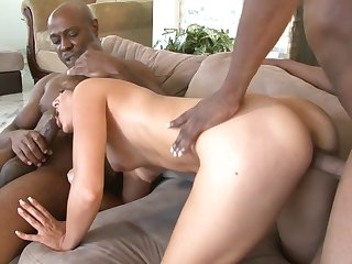 Jon Jon explores the depth of hot bodied Kiera King's throat with his love torpedo after butt fucking