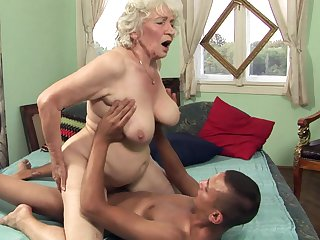 Plump granny Norma gets her hairy cunt pounded
