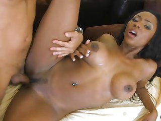 Hot black babe Persia gets her asshole licked