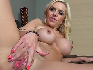 Busty MILF Nina Elle gets eaten out