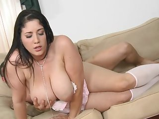 Chubby big tits babe Angel Deluca gets banged