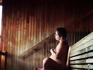 Danish amateur (001) preggo milf in a sauna