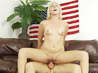 Blonde Ashley Stone gives headjob like no other and hard cocked guy Dane Cross knows it