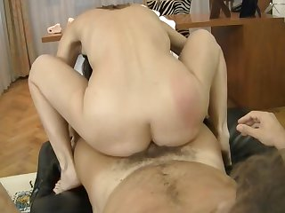 Valentine Chevalier enjoys some passionate anal sex with with Rocco Siffredi before deep blowjob